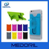 Wholesale Newly 3M sticker silicone mobile phone card pocket with stand holder from china suppliers