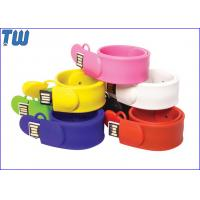 Buy cheap Slap Silicone Bracelet USB 16GB Flash Drives Delicate Design for Gifts from wholesalers
