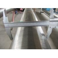Buy cheap Oil Well Pipe Base Screen 4 1 / 2 '' N80 , WWS Wire Wrapped Screen For Sand Control from wholesalers