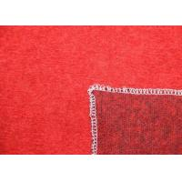 Buy cheap Knitting Texture Red Solid Color Merino Wool Knit Fabric For Winter Garment from wholesalers