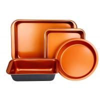 Buy cheap Copper Bakeware Set Oblong Rectangular Pan Brownie Pan Round Cake Pan and Meat Loaf Pan from wholesalers