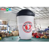 Buy cheap 3.6m Custom Inflatable Products / Blow Up Coffee Cup For Advertising from wholesalers