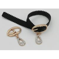 Wholesale Zinc Alloy Fashion Shoe Buckles , Rhinestone Shoe Repair Buckles Durable from china suppliers