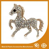 Wholesale Crystal Rhinestone Handmade Horse Brooches Jewellery Gold Plated from china suppliers