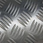 Buy cheap 1060 Five Bars Pattern Aluminium Checker Plate , Aluminium Chequered Sheet Baseboard from wholesalers