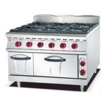 Buy cheap Natural Gas 6 Burner Range With Oven Pure Iron Head from wholesalers