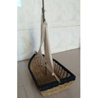 Buy cheap Hot sale rattan basket, nice gift boat, rattan fruit baskets, snack baskets from wholesalers