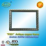Buy cheap Photo Frame In Zamak Model No. F001 Gold Old Gold Bronze size 12*16.5cm zamak name plate frame from wholesalers