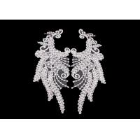 Wholesale Polyester Angel Wings Lace Collar Applique For Fashion Show DIY Lace Patch from china suppliers