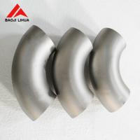 Wholesale Gr2 Titanium Pipe Fitting , ASME B16.9 90 Degree Long Radius Elbow from china suppliers