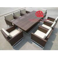 Fashion Rattan Table Dining Set, high quality rattan dining pool table Manufactures