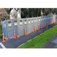 Buy cheap Construction Site Portable Sound Barrier Secured with Temp Fence Panels from wholesalers