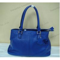 Buy cheap trendy simple design blue plated leather leisure lady handbag from wholesalers