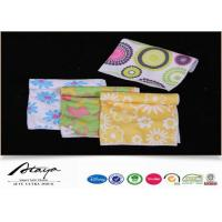 Buy cheap 80% Polyester 20% Polyamide microfiber polishing cloth / towels with Heat Transfer Print from wholesalers
