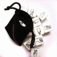 Buy cheap Acrylic dice set with printing from wholesalers