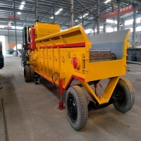 Buy cheap Diesel Engine Mobile Wheels  Integrated Biomass Crusher from wholesalers