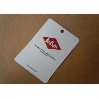 Buy cheap Printed Paper Tag Fabric Woven Clothing Labels Custom Apparel Tags And Labels Lightweight from wholesalers