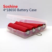 Buy cheap Soshine 18650 plastic battery case 4*18650 battery case, high quality 18650 battery case from wholesalers