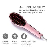Buy cheap Electric ceramic hair straightening brush fast heat up hair styler from wholesalers