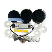 Buy cheap D133 pre-drilled round heat sink Cob 250 Watts LED Grow Light Kits With 90degree product