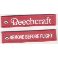 Beechcraft Aircraft Remove Before Flight Embroidery Key Chain Key FOB Manufactures