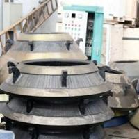 Buy cheap cone crusher spare parts high manganese steel cone liner bowl liner mantle and concave for SBM Shanbao Cone Crusher from wholesalers