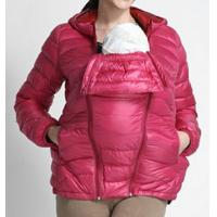 China Winter Pink Mama Babywearing Maternity Baby Carrier Coat With Pocket Hood on sale