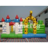Buy cheap Safety Giraffe Paradise Inflatable Fun City Play House For Bouncing / Skipping from wholesalers