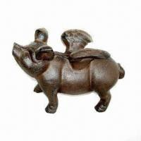 Buy cheap Animal figurine/frying pig, suitable for garden decorations from wholesalers