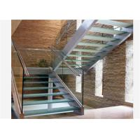 Buy cheap U channel modern baluster tempered glass stairs usage glass railing prices from wholesalers