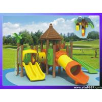 Buy cheap corrosion-proof wooden outdoor playground,amusement park equipment,garden playground for home,children slide playground from wholesalers