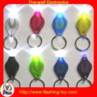Buy cheap red, blue, green, white, orange, black promotinal Mini LED Keychain Flashlights from wholesalers