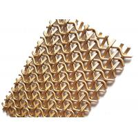 Buy cheap PVD Rose Gold Stainless Steel Decorative Wire Mesh 1500mm W 3700MM L Panel from wholesalers