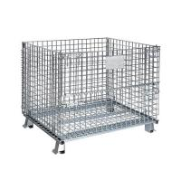 Wholesale Hot sale steel mesh storage containers for warehouse from china suppliers