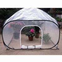Buy cheap Pop-up Green House with Fiberglass Poles, Steel Wire Rods and 4 Ground Stakes from wholesalers