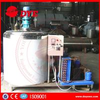 Dairy Stainless Steel Milk Tank With Cooling System Control Panel CE certificated Manufactures