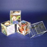 Buy cheap Acrylic Cube Photo Frames, 40 to 110mm Material Thickness  from wholesalers
