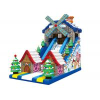 Buy cheap Windmill Merry Christmas Custom Theme Big Festival Inflatable Dry Slide For Party product