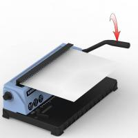 Buy cheap Table Top Spiral Wire Binding Machines Nail Hole Punching For School from wholesalers