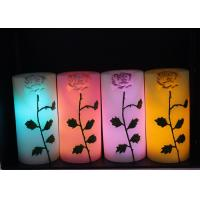 Buy cheap Rose Carved Wedding Led Candles Battery Operated With Color Changing from wholesalers
