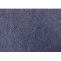 Navy Blue Color Classical German Bolied Wool Fabric For Vest Drape Finish