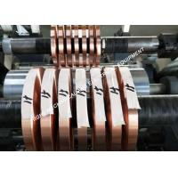 Buy cheap Polished Tinned Copper Foil , Bright Silvery Copper Foil Shielding Tape from wholesalers
