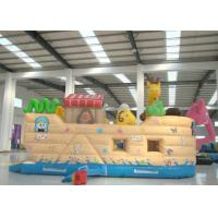 Buy cheap Common Elephant Animals Pirate Ship Inflatable Slide Children cute inflatable Pirate Jump House from wholesalers