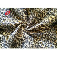 Buy cheap Leopard Printed 100% Polyester Velvet Fabric , Crushed Upholstery Velvet Fabric from wholesalers