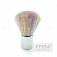 Buy cheap Rainbow Hair Silver Short Metal Handle Portable Nail Art Cleaning Dust Brush from wholesalers