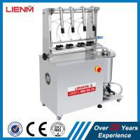 Buy cheap LM Stainless Steel 4 Heads Perfume Bottle Filler with CE Certificate Semi auto 4 Heads Perfume Bottling machine from wholesalers
