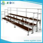 Buy cheap Sgaier Hot sell school/church portable Aluminum Folding Choir  riser with handrail from wholesalers
