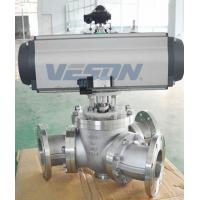 Buy cheap Y Type 135 Degree 3 Way Pneumatic Ball ValveWith Pneumatic Actuator from wholesalers
