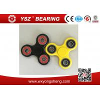 Black / Yellow Hand Spinner Fidget Toy / Tri Spinner With 608 Bearings Manufactures
