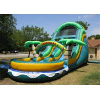 Buy cheap PVC Tarpaulin Kids Inflatable Water Slide Double Lanes Design Easy Maintain from wholesalers